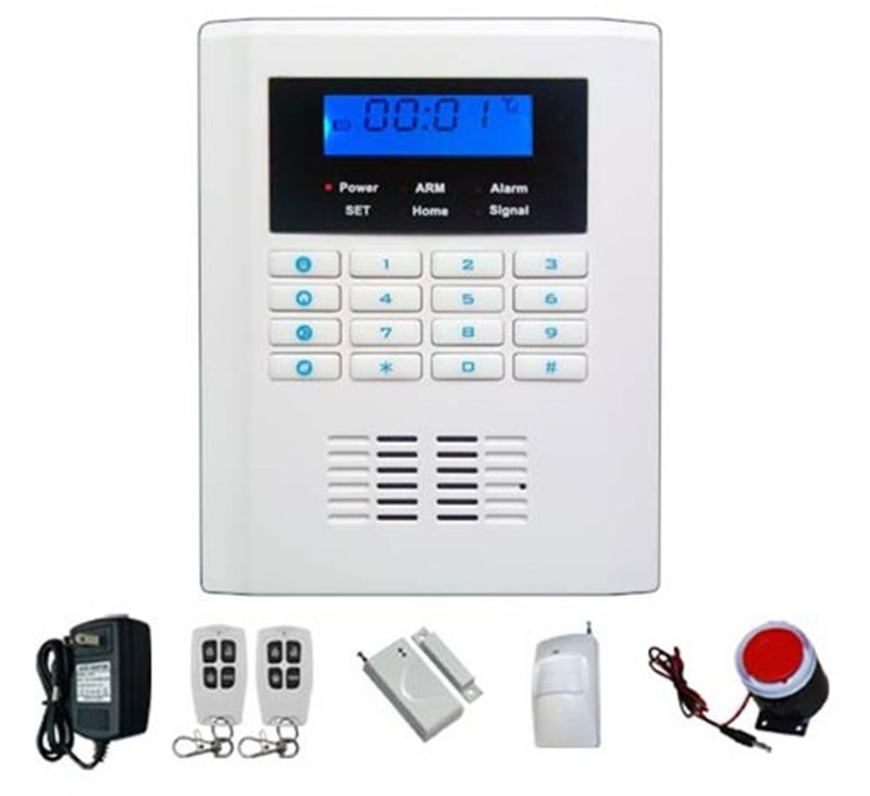 Dual Network GSM/PSTN Security Alarm System 101 Zones LCD Display Alarm System
