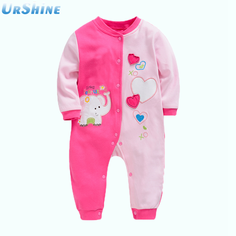2018 Romper Baby Long Sleeve Cotton Infant Clothes Cartoon Printed Newborn Baby Cartoon Printed New Born Bebe Girls Clothing