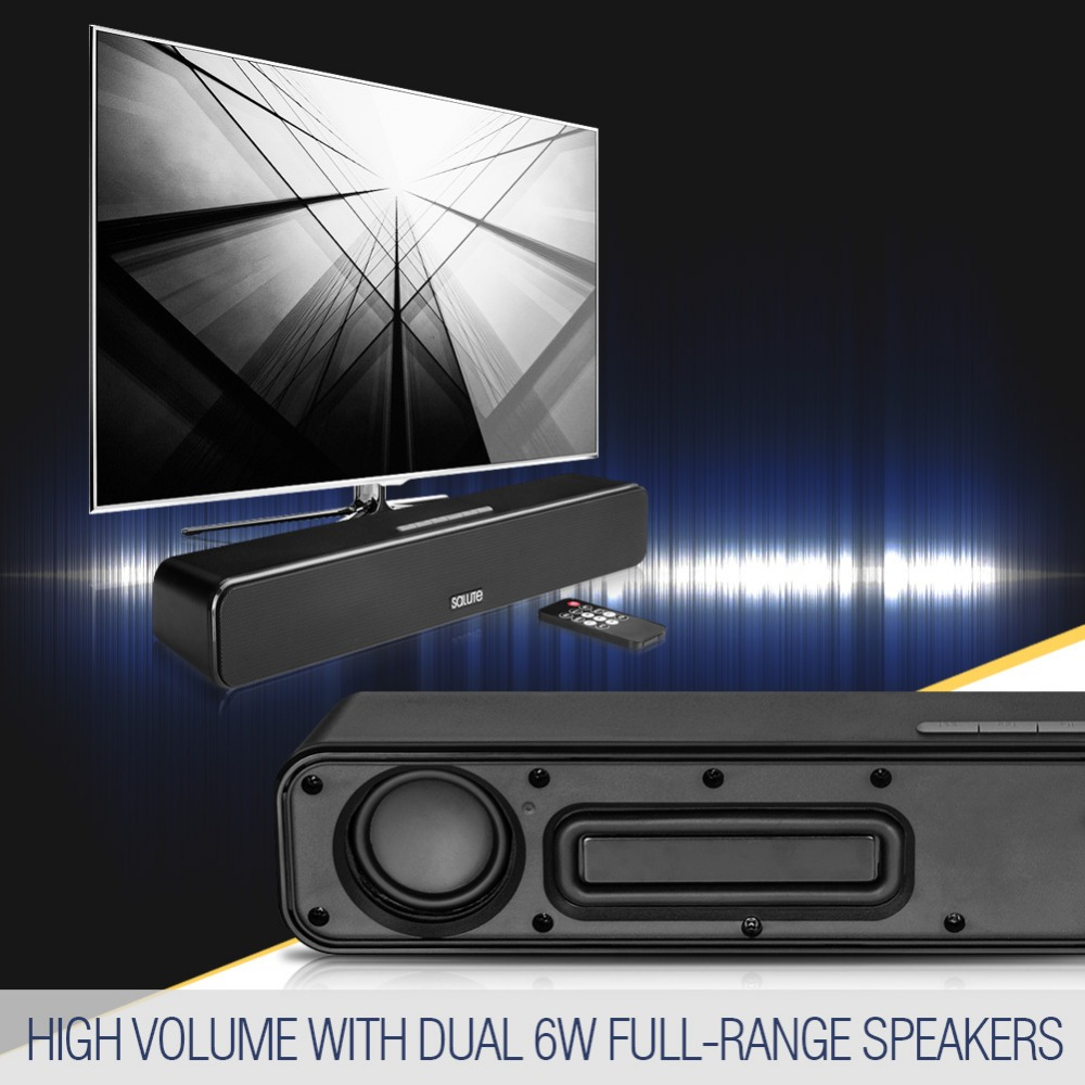 Portable Indoor Mini Sound Bar Wireless Speakers Bluetooth 4.0 Music Speaker for Party,Yoga,PC Game,TV,Computer Soundbar