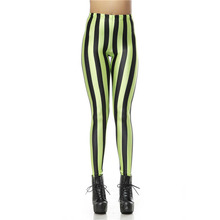 New Design Legging Black Green Stripe Digital Leggins High Waist Legins Printed Women Leggings Pants KDK1147