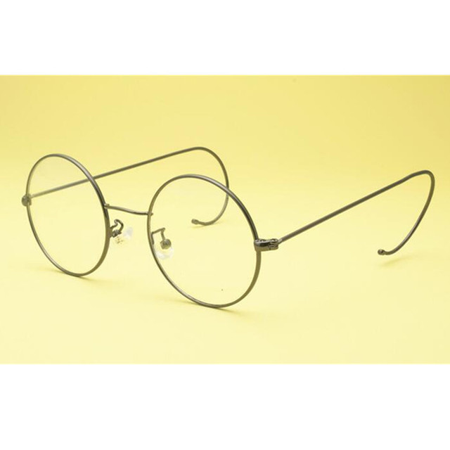 12677a6f8d8 Vintage Round 60s 46 mm Full Rim Eyeglass Frames Gold Gunmetal Wire Rim John  Lennon Steve