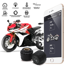 BORUiT Motorcycle for Bluetooth Tire Pressure Monitoring System TPMS Mobile Phone APP Detection 2 External Sensors