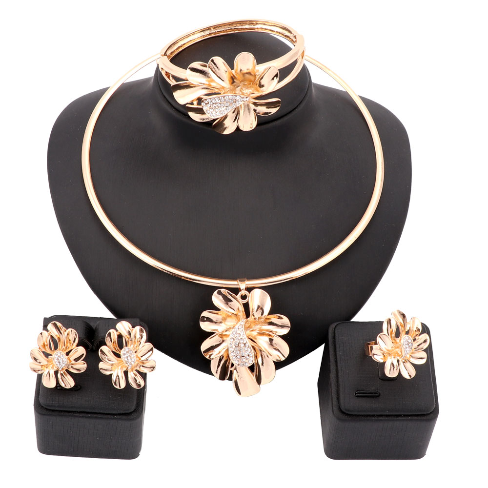 Images of jewellery kenetiks com - Women Gold Color Nigerian Wedding African Beads Jewelry Set Crystal Saudi Jewelry Sets Bangle Earring Ring