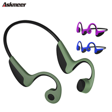 Original ASKMEER Bluetooth 5.0 Wireless Headphones Bone Conduction Earphone Outdoor Sport Handsfree Headsets with Microphone