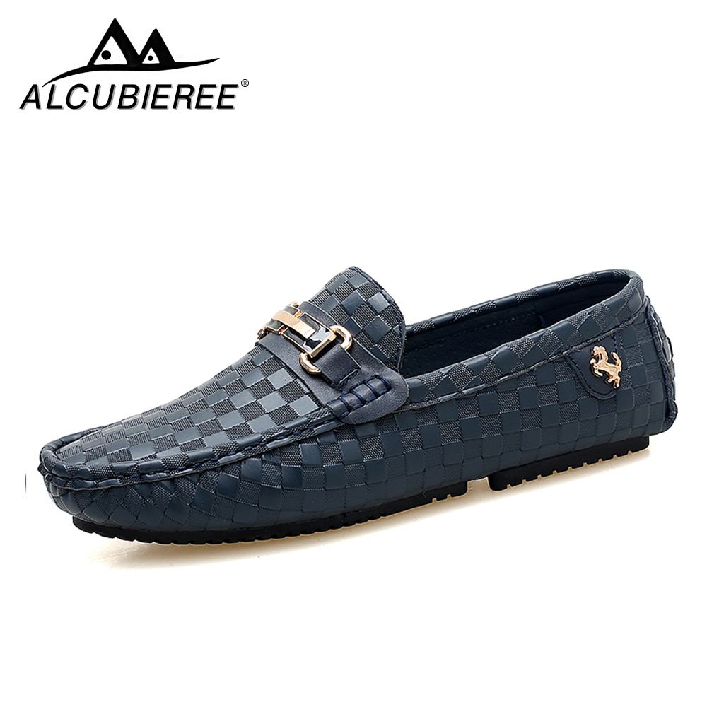 Men Casual Shoes Embossed Leather Moccasins for Men High Quality Slip on Flats Loafers Fashion Buckle Style Driving Shoes new style men s loafers high quality cow leather man driving shoes casual moccasins male flats slip on shoe men plus size 38 47