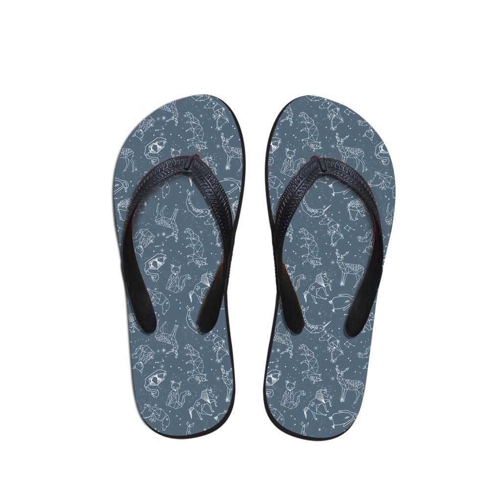Daily Wear Men's Flip Flops Beach Shoes Outside Animals Design Sandals Teen Boys animal geometric Fit Flops Slippers