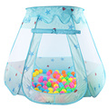 Kids Toy Play Tent Indoor and Outdoor Playhouse Kids Princess Teepee Tent Girls Gifts Pink/Blue (Balls not includ)