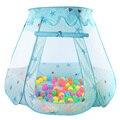 Toy Kids Play Tent Indoor e Outdoor Playhouse Crianças Princesa Tenda Tenda Presentes Meninas Rosa/Azul (Bolas não includ)