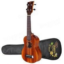 Kaka kus/c/t-70 21 23 26 zoll 4 saiten mahagoni palisander griffbrett koa panel ukulele mit gig tasche musikinstrument