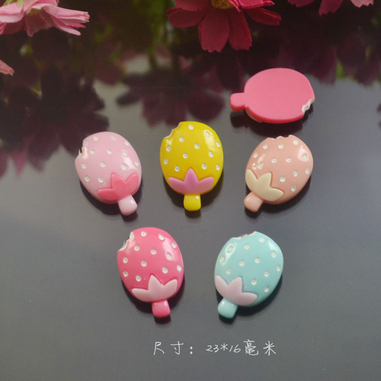 50pcs/lot Flat Back resin pineapple sorbet Icecream 23*16mm for phone kids hair decoration Holiday Decoration Gift Christmas