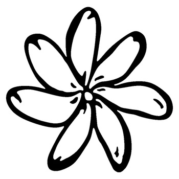 15cm*14.9cm Tiare Flower Fashion Vinyl Car-Styling Car Sticker Black/Silver S3-5559 image