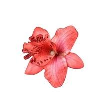 Nueva Novia de La Boda Flor de La Orquídea Del Pelo Clip Barrette Mujeres Niñas Accesorios 1 unids Rojo