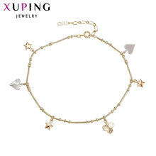 11.11 Xuping Fashion Anklet New Arrival Multi-color Plated High Quality Luxury Foot Chain Jewelry Gift Women S13.1/S34.3-73339(China)