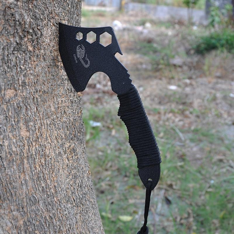 2 Typ Hohe Qualität Tragbare Outdoor Survival Werkzeuge Camping Messer Axt Taktische Tomahawks Überleben Multi Tool Cut Seil Mund SchnäPpchenverkauf Zum Jahresende