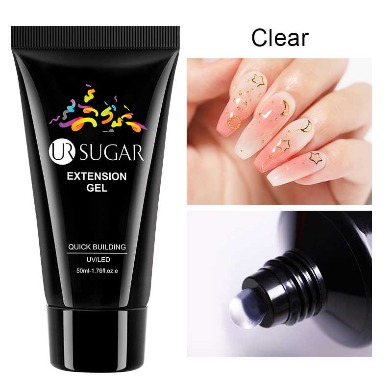 UR SUIKER 50ml Quick Extension Gel Clear Poly Building Gel Nail Tips Enhancement Anti Oplossing Nail Art Builder UV LED Polish
