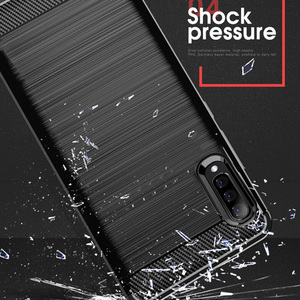 Image 3 - Чехол из углеродного волокна для Samsung Galaxy A70, противоударный чехол для телефона Samsung A50, A70s, A, 70 s, гибкий чехол бампер