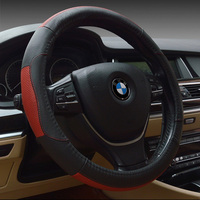 Free Shiping Luxury Hot Sale Cowhide Leather Car Steering Wheel Cover Four Seasons Anti Skidding Car