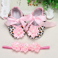 Ivory Christening Lace baby booties sapato bebe menina zapatillas festa baptism baby girl shoes Headbands set aby slippers