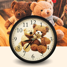 Free Shipping Battery Cartoon Doraemon Minions Hello Kitty Wall Clock  Kindergarten Home Nursery Kids Room Decor