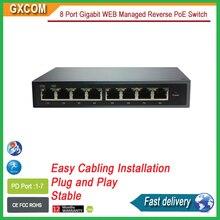 8 Порт Gigabit WEB Управляемый Обратный PoE Коммутатор