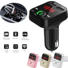 Car Kit Handsfree Wireless Bluetooth FM Transmitter LCD MP3 Player USB Charger 2.1A Car Accessories Handsfree Auto FM Modulator все цены