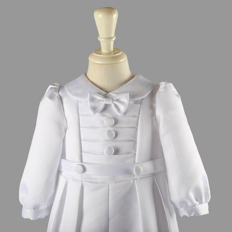 Kedves Fehér Baba Fiú Ruházat Szélesvásznú Szilárd Teljes - Bébi ruházat - Fénykép 4