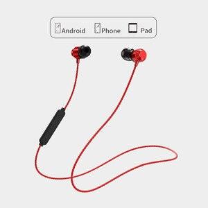 Image 1 - Atração Magnética Do Bluetooth Fone de Ouvido Neckband Esporte Fone de ouvido À Prova D Água No Ouvido Sem Fio com Microfone Com Cancelamento de Ruído Hifi