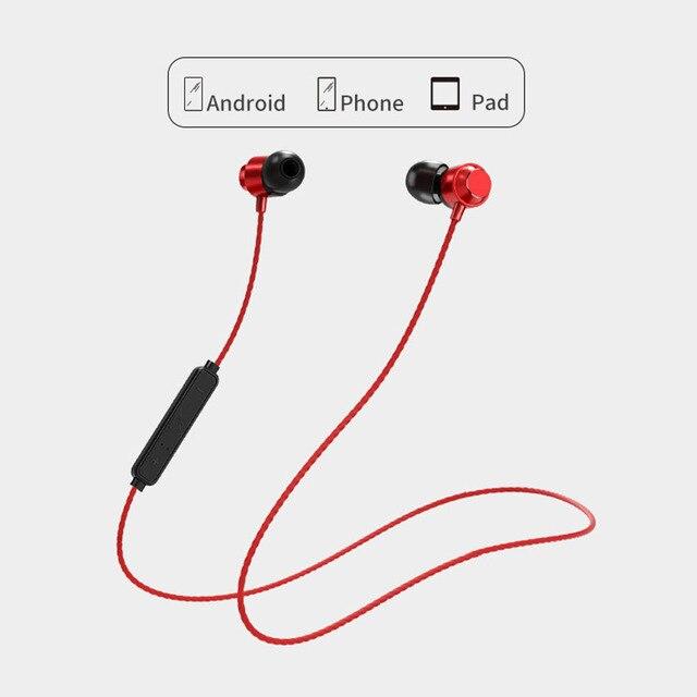 Atração Magnética Do Bluetooth Fone de Ouvido Neckband Esporte Fone de ouvido À Prova D Água No Ouvido Sem Fio com Microfone Com Cancelamento de Ruído Hifi