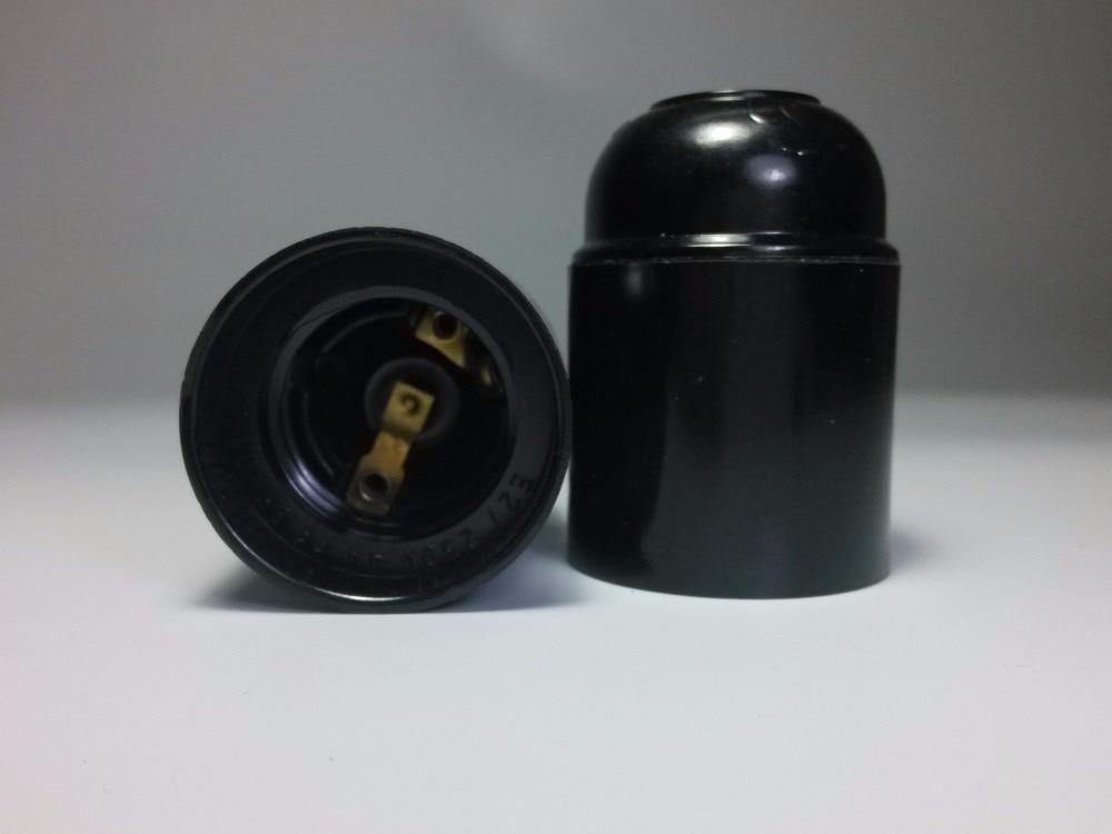100pcs E27 Bakelite Light Bulb Base Lamp Holder E27 Black