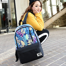HANSOMFY   Backpack Female Korean Students High Black Male College Wind Waterproof Bag Leisure Travel Computer Backpack