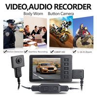 1080P full HD police body camera with 2.7 inch high resolution mini dvr kit 16X digital zoom body recorder Motion Detection cam
