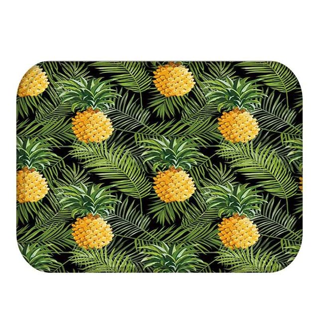 40x60cm Cactus Pineapple Plant Printed Anti-slip Floor Mat Outdoor Rugs Animal Front Door Mats Kitchen Mat for Living Room