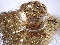 Beige Brillo Resistente A los Disolventes Glitter Mix Mezcla de esmalte de Uñas Frankening Scrapbooking