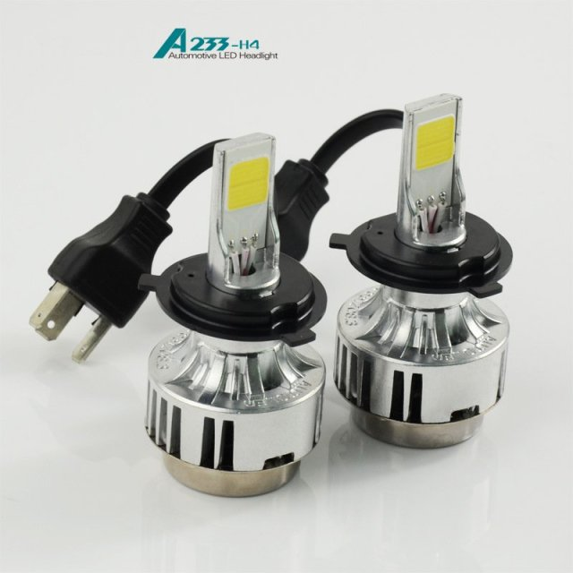 12v 33w cob led headlight kit h4 a233 led headlamp bullb. Black Bedroom Furniture Sets. Home Design Ideas
