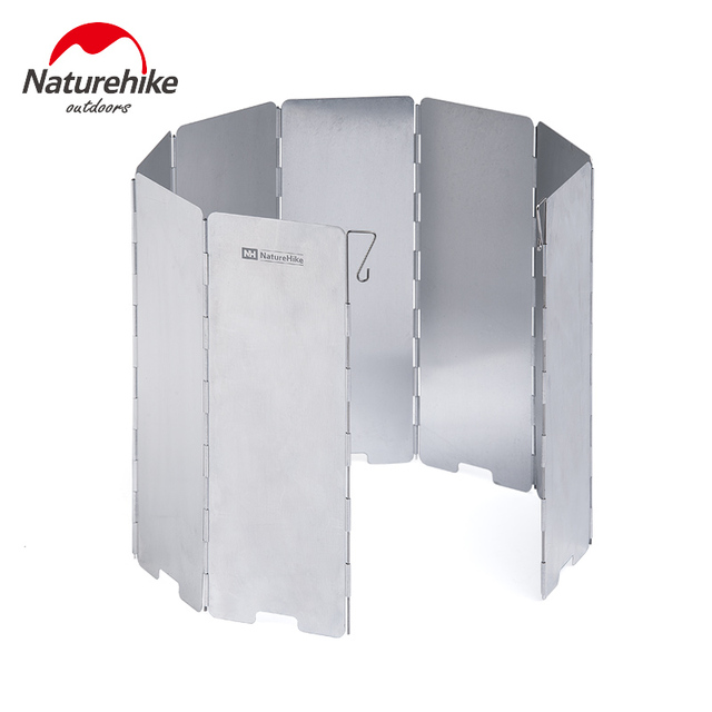 Naturehike Windproof Aluminum Windscreen 8 Plates Folding Wind Shield for Backpacking Camping Picnic Cooker Stove Wind Screen