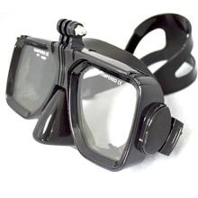 Para GoPro Accesorios de Montaje de Buceo y Snorkel de Buceo de Buceo máscara gafas de Natación Gafas de vidrios Templados Para Go pro hero 6 5 4