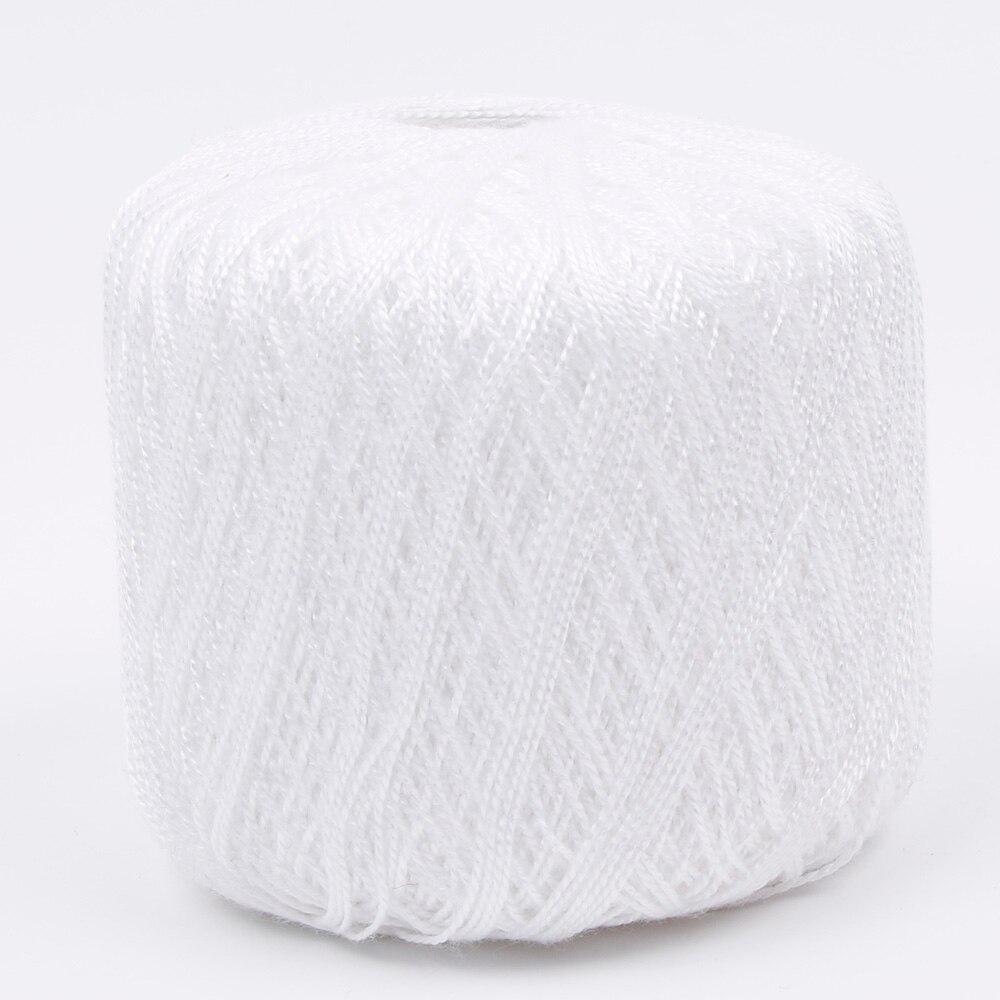 1 шт. DIY мерсеризованный хлопок шнур нить ПРЯЖА для вышивки крючком вязание кружева Ювелирные Изделия швейные инструменты аксессуары - Цвет: Белый