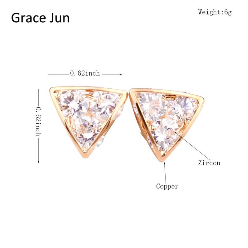 Grace Jun (TM) Yüksək keyfiyyətli Mis Sıxılmış AAA CZ - Moda zərgərlik - Fotoqrafiya 5