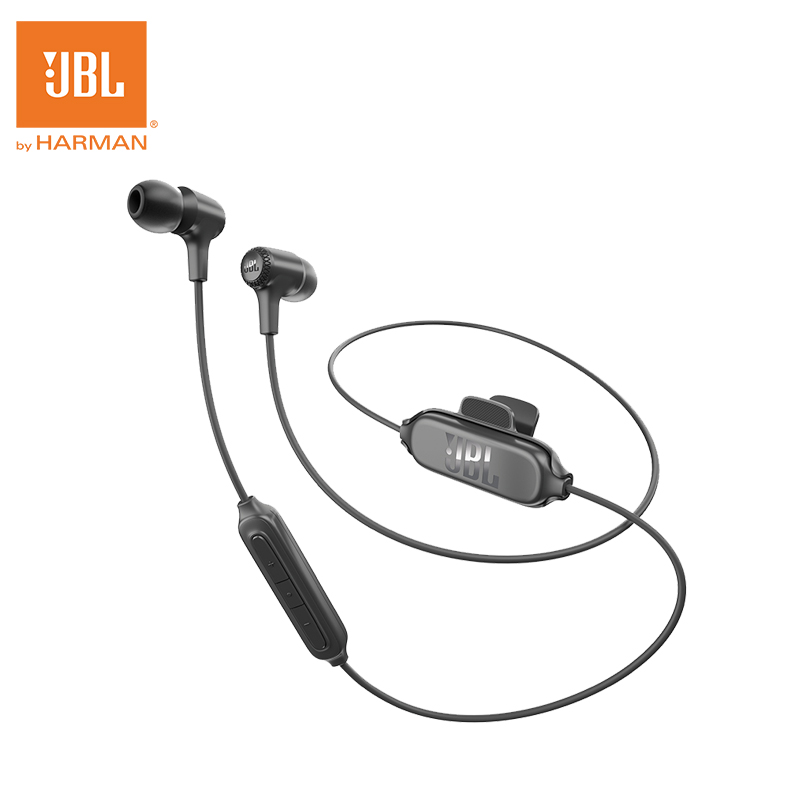 JBL E25BT Headphones Bass Stereo Wireless Sports Bluetooth Earphone For Android IOS Mobile phone Earbuds Headsets with Mic new original jbl synchros reflect best bass stereo hifi sports earphone for iphone earbuds headsets with mic pk se215 se535