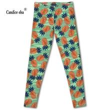 Drop shipping high quality leggings women slim fashion pineapple leggings digital print leggings plus size