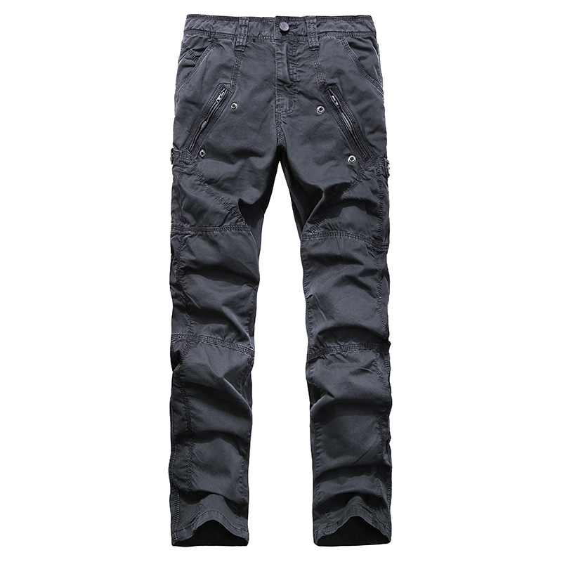 AIRGRACIAS Multi-Pocket Men's Military Cargo Pants Loose Style Men Pants Tactical Casual Long Trousers Male Zip Fly Size 29-38 15