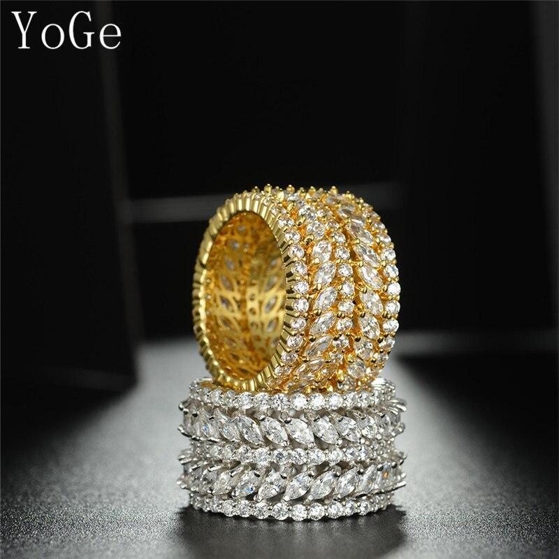 Prix pour YoGe R0349 Mode AAA zircon entièrement ornée de bijoux ronde et marquise pierres anneau, shinning, femmes de plein doigt anneau