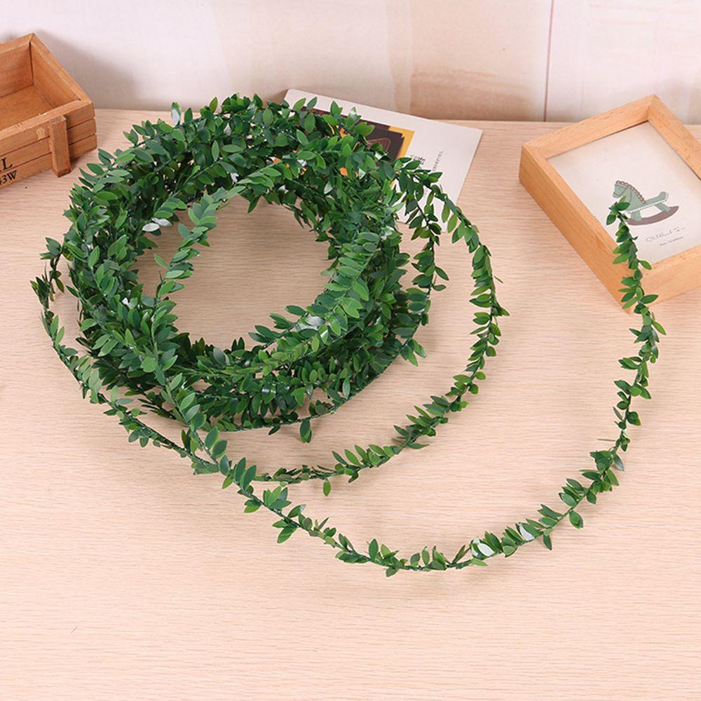 3,75 м 150 inch/pcs шелк гирлянды зеленый лист Железная проволока искусственные цветы лоза ротанга для Свадебные украшения автомобиля DIY ВЕНОК цветы