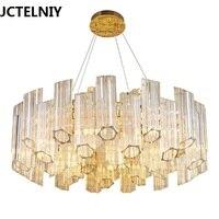 Post modern crystal chandeliers modern simple living room bedroom lights light design gold LED new restaurant chandeliers