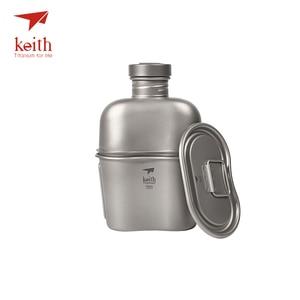 Image 3 - Keith titanyum 1100ml spor su ısıtıcısı ve 700ml titanyum yemek kabı kamp ordu su şişeleri su ocak Ultralight Ti3060