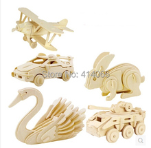 3d three-dimensional wooden animal jigsaw puzzle toys for children diy handmade wooden jigsaw puzzles Animals Insects Series