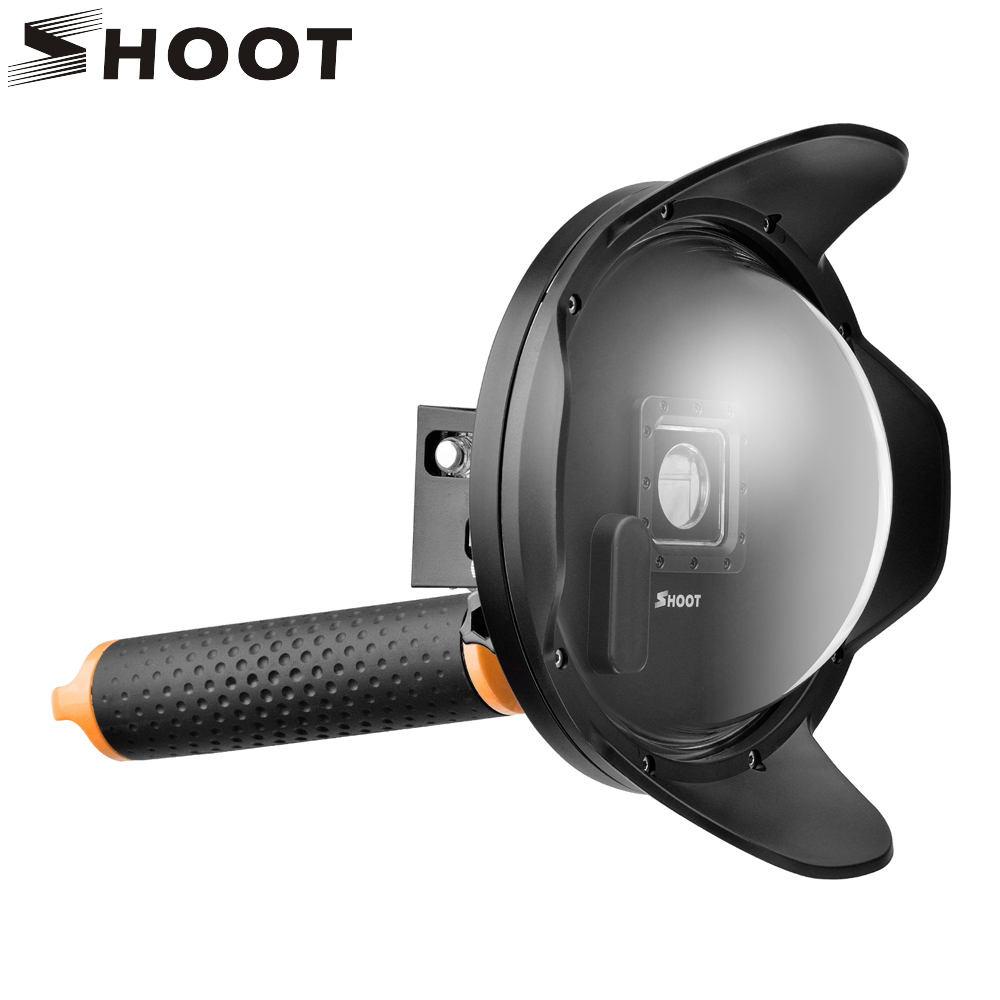 SHOOT Sunshade 6 inch Diving Dome Port For GoPro Hero 4 3+ Camera With Waterproof Case Float Bobber Lens for Go pro 4 Accessory цена и фото
