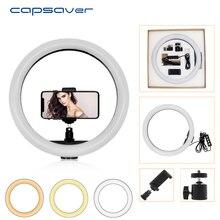 Capsaver 12 סנטימטרים LED טבעת אור USB טבעת מנורת נייד תמונה סטודיו טבעתי מנורת Dimmable 2700 K/5500 K עבור YouTube איפור אור