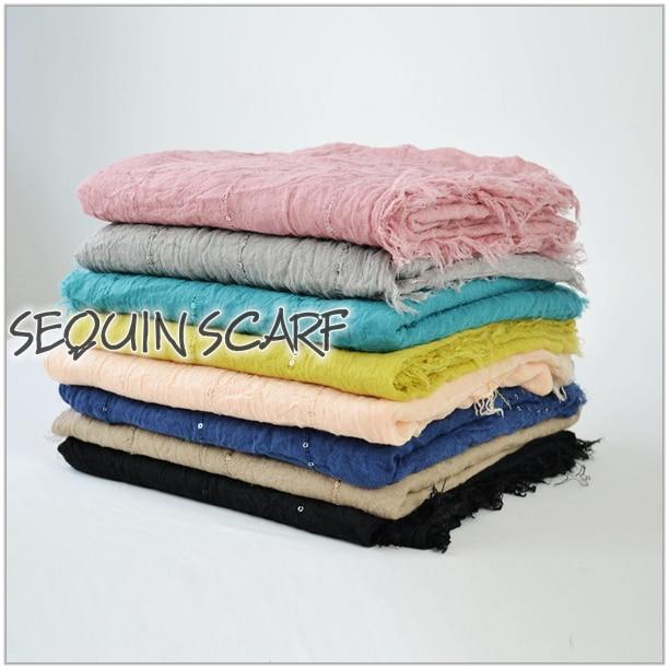 Однотонный Простой Большой рекламный женский шарф, блестящий Блестящий шарф, шаль, большой летний шарф