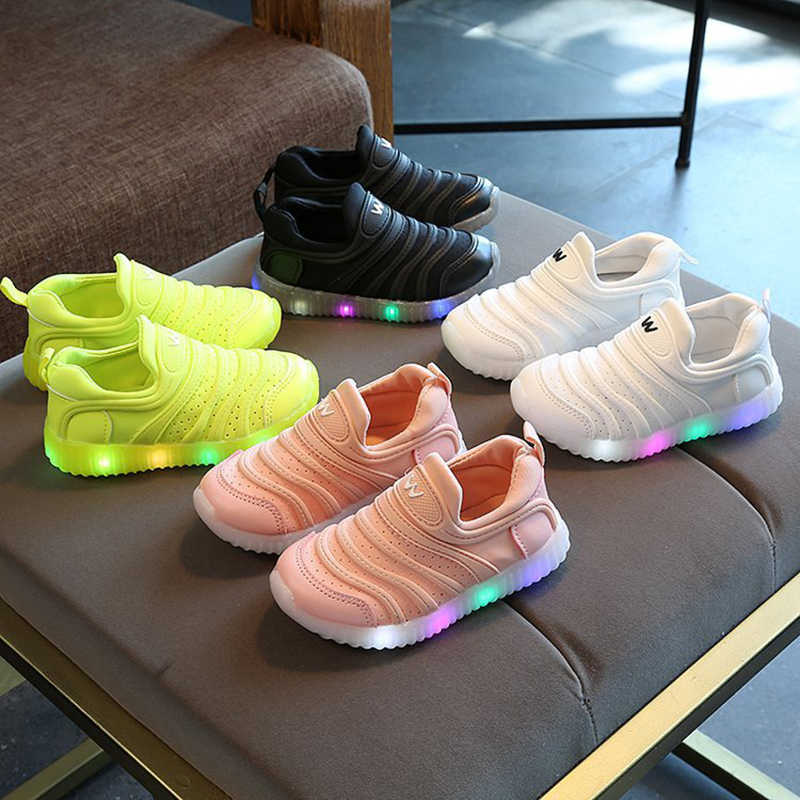 Fashion Children Light Shoes Luminous Unisex Casual Sport Running Flashing Light Sneakers for Boys Girls Kids Dropshipping